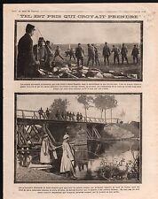 WWI Poilus Gardiens Prisonniers Saint-Nazaire Pays de la Loire 1914 ILLUSTRATION