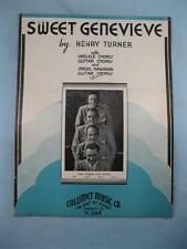 Sweet Genevieve Sheet Music Vintage 1935 The Maple City Four By Henry Turner (O)