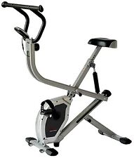 Sunny Dual Action Rider Stationary Cycling Upright Row Full Body Exercise Bike