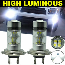 2x H7 Fog Light 6000K 100W White LED 20-SMD Samsung 2323 Projector Driving DRL