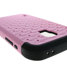 Diamond Case for Samsung Galaxy S5 Active Hybrid Layer Light Pink Black Cov