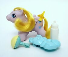 Vintage G1 My Little Pony Newborn Twin Speckles & Accessories ~ Adorable!