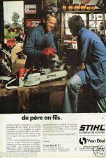 Publicité advertising 1982 La Tronconneuse Stihl Yvan Béal