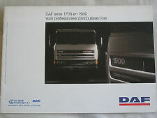 DAF 1700 & 1900 Series Truck brochure 1990 Dutch? text