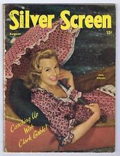 1947 SILVER SCREEN JUNE ALLYSON INCOMPLETE VG-F 5.0 SUPER ISSUE NICE UMBRELLA