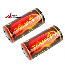 2pcs TrustFire TF32650 3.7V 6000mAh Rechargeable Li-ion Batteries Red for Lamp