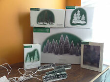 Dept56 Village Frosted Topiaries Sisal Tinsel Icy Tree Hedge Christmas Accessory