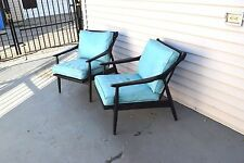 Pair Mid Century Modern Danish Modern lounge chair in the manner of Kofod Larsen