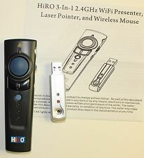 HiRO H50175 3 in 1 2.4GHz WiFi Black Presenter Laser Pointer Wireless Mouse Up t
