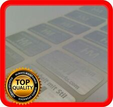 White print! 600 Security hologram labels, void warranty tamper seals 32x15mm