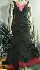 XSCAPE FLAPPER TANGO Ruched BOMBSHELL Mermaid Style Dress SZ 4P  BLACK PINK