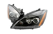 Depo Pair Euro Style Black Projector Headlights 04-07 05 06 For Lancer