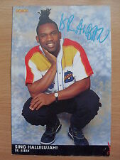 DR.ALBAN - Sing Hallelujah! - Lyric Card + Autograph