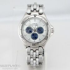 LORUS MULTI FUNCTION MENS WATCH DATE DAY 12/24 HOUR 1 J' MVMNT WR 100 FT/30 MT