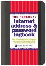 The Personal Internet Address & Password Log Book (Spiral) - BRAND NEW