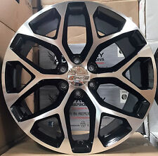 "22"" GMC Yukon Denali Style Wheels Black Mch Rims Offroad 33x12.50R22 Mud Tires"