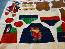 "Christmas stitch & stuff Teddy Bear V.I.P. printed panel-18"" finished size"