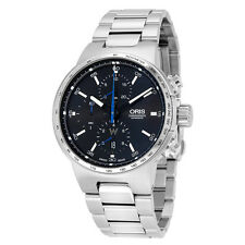 Oris William Chronograph Automatic Black Dial Stainless Steel Mens Watch