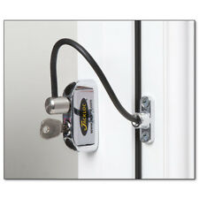 Jackloc Cable Window Restrictor 200mm for UPVC Child Safety with Key Lock Chrome