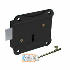 "75mm 3"" PRESS LOCK Face Fixing for Shed Gate Door Dead Deadlock Security"