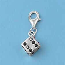 Funny Dice Pendants Sterling Silver 925 Fashion Children's Charms Jewelry Gift