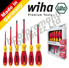 WIHA 25477 - 6 PIECE VDE 1000V SCREWDRIVER SET SoftFinish® - SLOT / FLAT & POZI