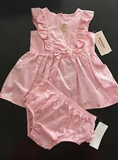 NWT Juicy Couture Baby Girls 2 Piece Dress & Diaper Cover Set, Size 12 Months