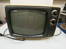 "Vintage Retro Sanyo Portable Black/White Television Model 21T68 12"" TV   #105"