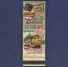 VINTAGE KNOTT'S BERRY FARM AND GHOST TOWN MATCHBOOK COVER