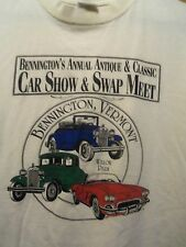Bennington Vermont car show & swap meet men's graphic t shirt L