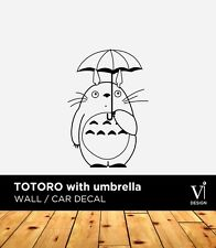 Totoro with Umbrella, Wall Sticker, Vinyl Sticker, Home Decal
