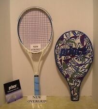 Prince Ace Face MP 95 Tennis Racquet 4 1/4- EUC + NEW STRINGS/OVERGRIP