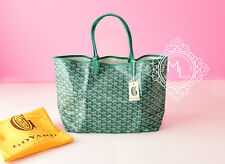 AUTHENTIC NEW GOYARD ST SAINT LOUIS PM GREEN CHEVRON CANVAS TOTE HADNBAG BAG