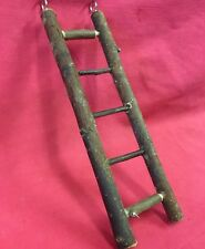 Natural Wooden Bird Ladder 5 Steps Climb Exercise Gnaw Chew Wood Toy 10 x 2.3/4""