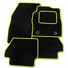 FORD FOCUS ST 2000-2006 TAILORED CAR FLOOR MATS BLACK CARPET WITH YELLOW TRIM