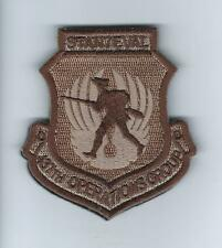 """437th OPERATIONS GROUP """"STAN EVAL"""" (WITH VELCRO) desert patch"""