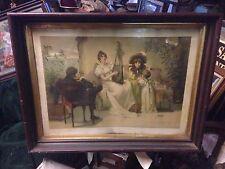 """Songs Of Love 33"""" x 26"""" Liebes Lieder Print New York M Goodman 1892"""