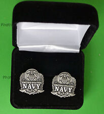 Navy Eagle Cufflinks in Presentation Gift Box USN