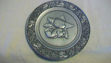 CHRISTMAS 1979 PEWTER PLATE LITTLE ANGEL by MARY HAMILTON FROM LITTLE GALLERY