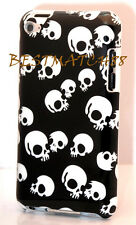 FOR IPOD TOUCH 4TH 4 TH ITOUCH 4G CASE BLACK WHITE COOL SKULL SKELETON HARD BACK