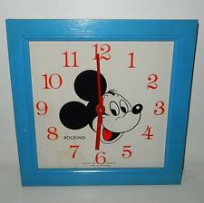 Horloge Rocking Mickey Mouse WALT DISNEY Vintage