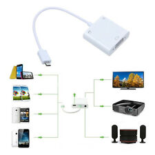 Micro USB MHL to VGA Adapter Converter 720p 1080i For Samsung Note Galaxy LG HTC