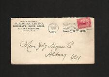1908 envelope G A Spaulding, Goodyear's Glove Goods, Utica, New York * J G Myers