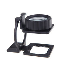 20X Portable Foldable Magnifier Stand Magnifying Glass Lens Loupe Measure Scale
