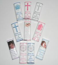 30 Personalised Naming Day Chocolate Bar WRAPPERS  Favours, Gifts