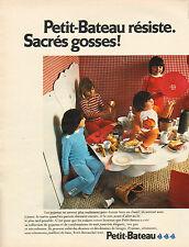 Publicité Advertising 1972  PETIT BATEAU pyjama vetement sous vetement