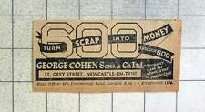 1939 George Cohen Will Turn Your Scrap Into Money Grey Street Newcastle