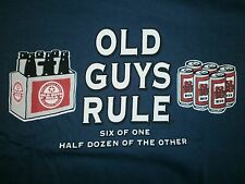"OLD GUYS RULE "" SIX OF ONE HALF DOZEN OF THE OTHER  "" BOTTLE CAN BEER S/S 2X"