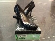 NIB Sam Edelman New & Gen. Black Leather Heeled Shoes UK Size 6.5 US 8.5 EU 39.5