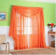 Multi Color Solid Tulle Door Window Curtain Drape Panel Sheer Scarf Valance 2016